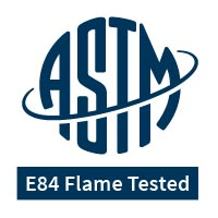 ASTM E84 Flame Tested logo