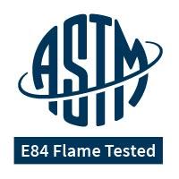 ASTM E84 Flame Tested logo