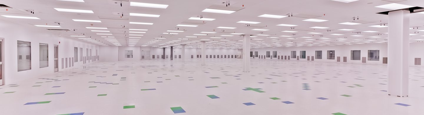 Interior of empty new cleanroom