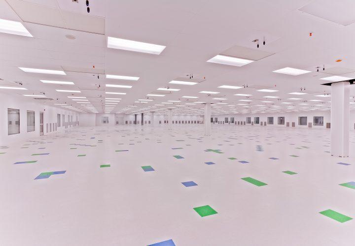 Interior of empty new cleanroom