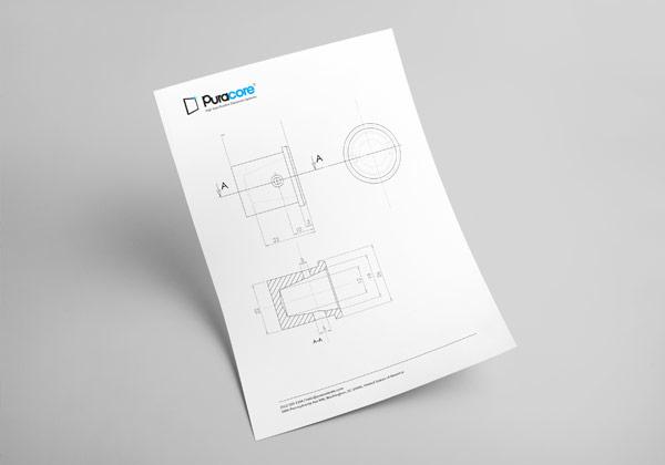 Purcacore CAD mockup