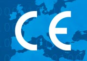 CE Mark over map of Europe