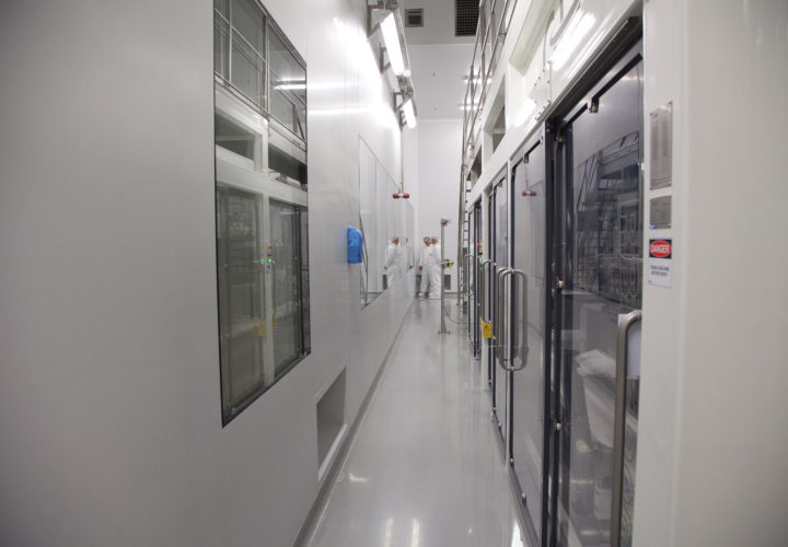 A cleanroom area at Glanbia, Kilkenny